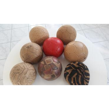 Cork Ball Handball Cork Leather Game Ball vegan leather...