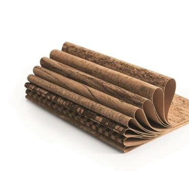Cork fabric - cork leather: sample package, furniture...