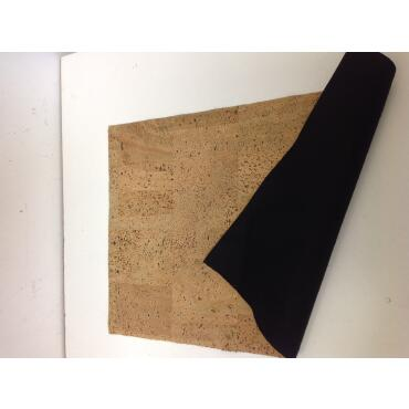 Cork fabric Cork leather Pear Nature 45 x 30cm 0,8mm...