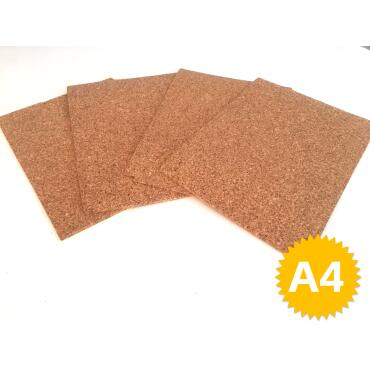 Cork plate 10mm A4, - crafts, model making, pin board...