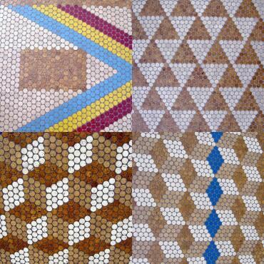 Cork mosaic single panel 30x30 cm 6 mm solid
