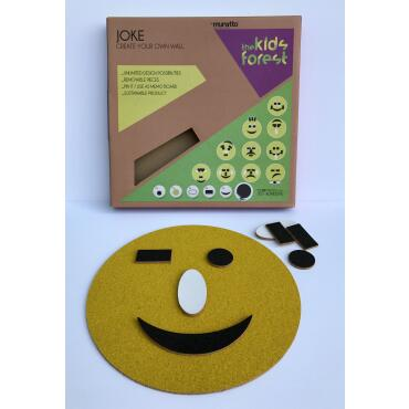 Smiley Joke Cork Sticker 3mm self-adhesive 9 parts
