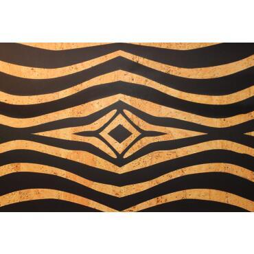"""Cork fabric design """"Zebra"""" Format A4"""