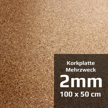 Multipurpose cork board 100 x 50 cm (2 mm)
