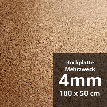 Multipurpose cork board 100 x 50 cm (4 mm)