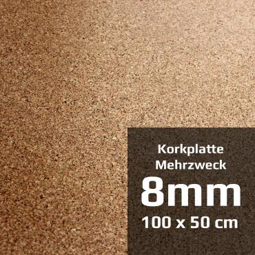 Multipurpose cork board 100 x 50 cm (8 mm)