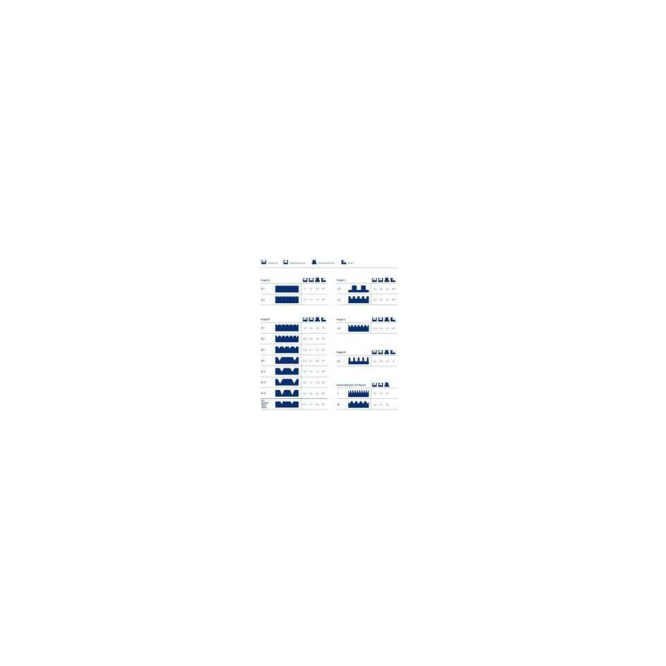 Bevorzugt Notched trowel 18 cm | notch A1 - B5, 3,00 € VA09