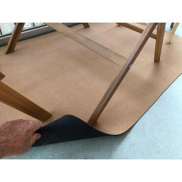 Kork-Leder-Teppich Korkmatte 1,30m x 2,95m, Stärke 3mm