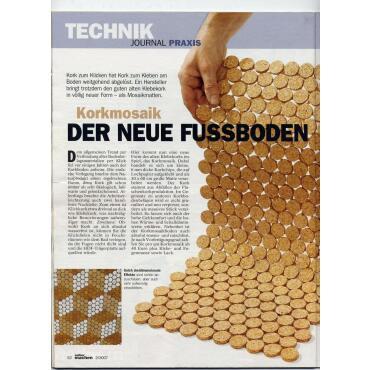 2. Wahl Korkmosaik 30x30 cm Einzelplatten Restposten mit...