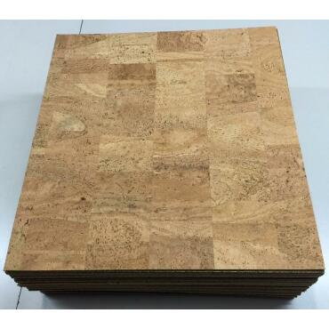 Cork carpet tile 45 x 45cm Pear